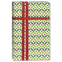 "Geo Holly Gift Wrap, 24"" x 100'"