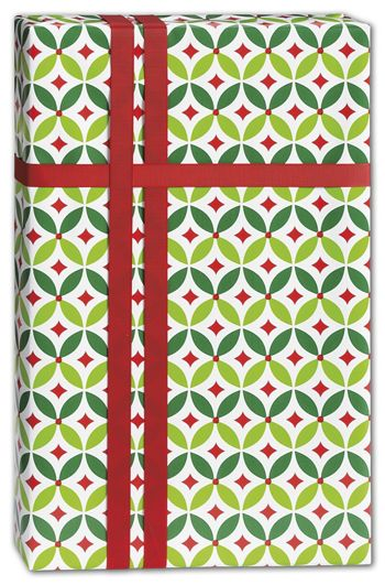 Geo Holly Gift Wrap, 24