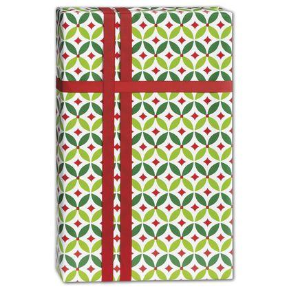 "Geo Holly Gift Wrap, 24"" x 417'"