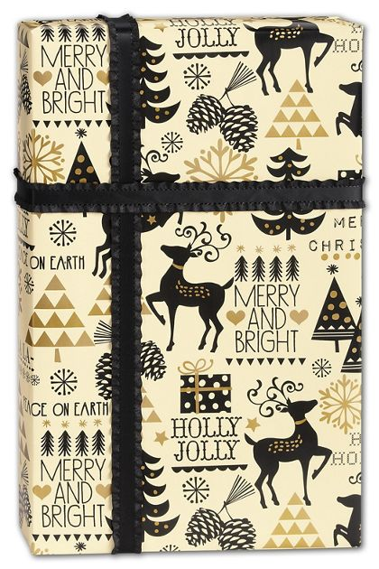 "Merry and Bright Gift Wrap, 24"" x 417'"