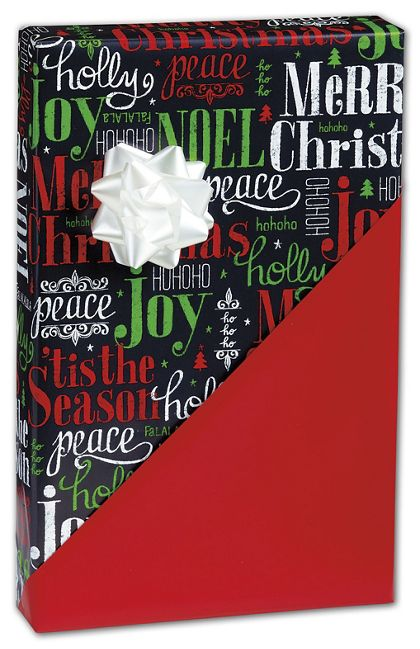 "Tis the Season Reversible Gift Wrap, 24"" x 417'"