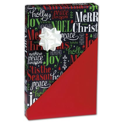 """Tis the Season Reversible Gift Wrap, 24"""" x 417'"""