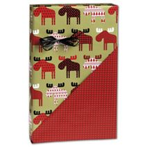 """Material Moose Reversible Gift Wrap, 24"""" x 100'"""