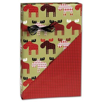 Material Moose Reversible Gift Wrap, 24