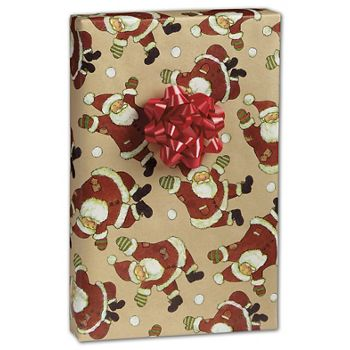 Santa Celebration Kraft Gift Wrap, 24