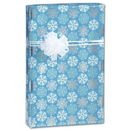 """Snowflakes Gift Wrap, 24"""" x 100'"""