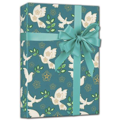 """Holiday Peace Gift Wrap, 24"""" x 100'"""