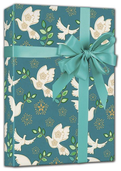 "Holiday Peace Gift Wrap, 24"" x 417'"