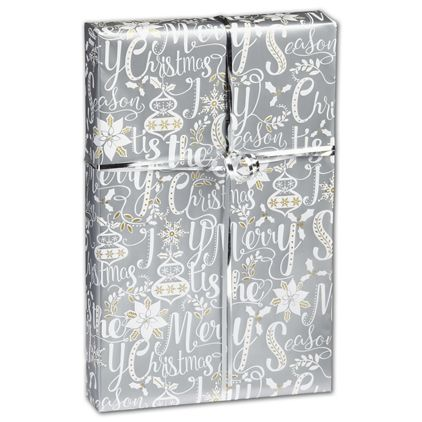"""Scripted Holiday Gift Wrap, 24"""" x 100'"""