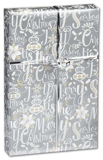 Scripted Holiday Gift Wrap, 24