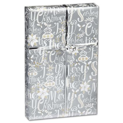 """Scripted Holiday Gift Wrap, 24"""" x 417'"""