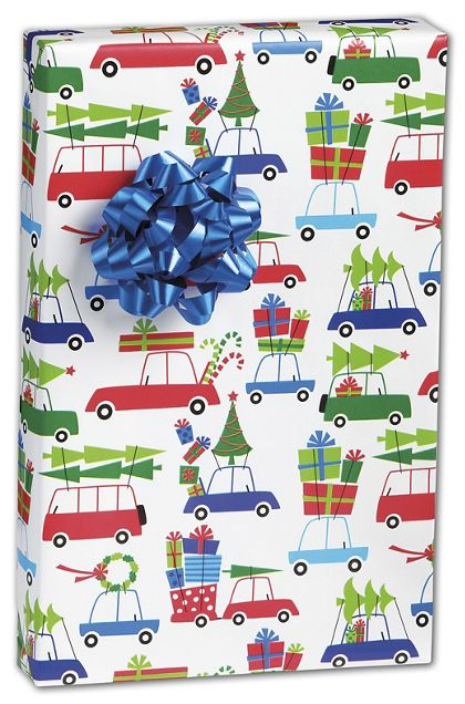 "Christmas Eve Rush Gift Wrap, 24"" x 417'"