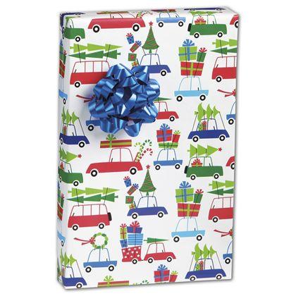 """Christmas Eve Rush Gift Wrap, 24"""" x 417'"""