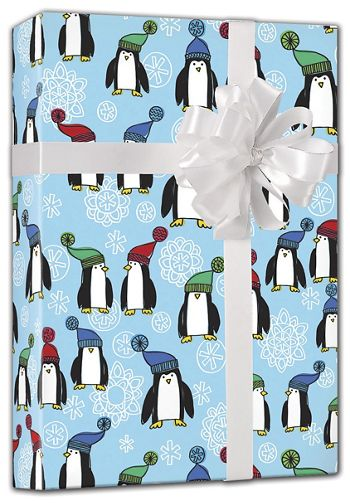 Penguins Gift Wrap, 24