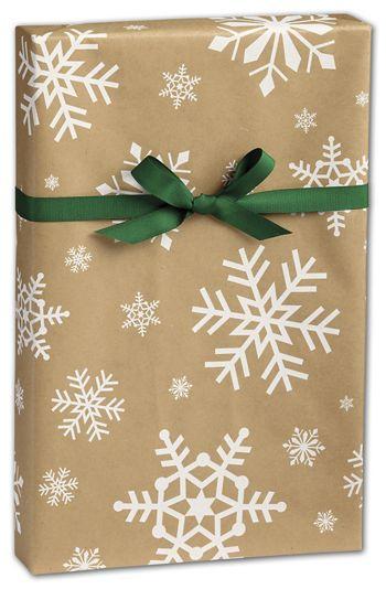 Snowday Kraft Gift Wrap, 24