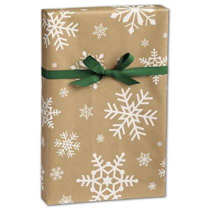 "Snowday Kraft Gift Wrap, 24"" x 100'"