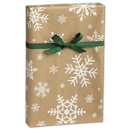 "Snowday Kraft Gift Wrap, 24"" x 417'"