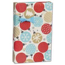"Twinkling Ornaments Kraft Gift Wrap, 24"" x 100'"