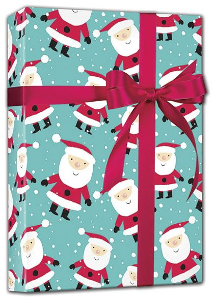 "Snowy Santa Gift Wrap, 24"" x 100'"