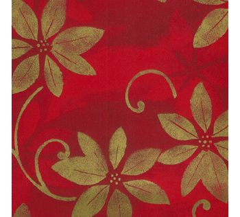 Poinsettia Shadows Gift Wrap, 24
