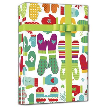 "Mod Mittens Gift Wrap, 24"" x 100'"