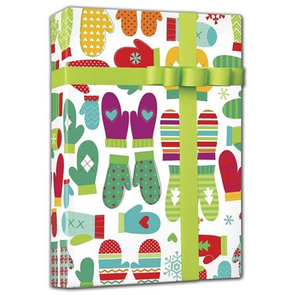 "Mod Mittens Gift Wrap, 24"" x 100'"