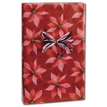 "Pearlized Poinsettias Gift Wrap, 24"" x 100'"