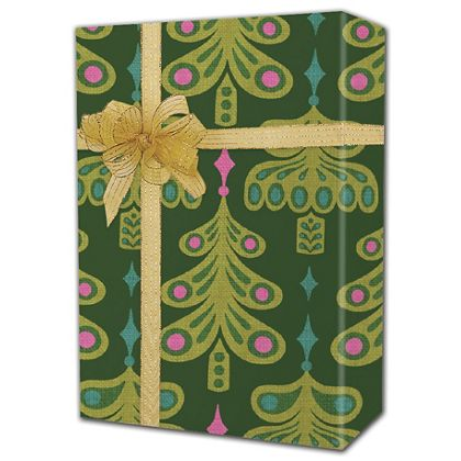 "Jeweled Trees Gift Wrap, 24"" x 100'"