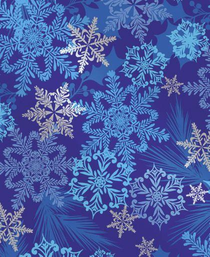 "Snowflake Swirl Gift Wrap, 24"" x 100'"