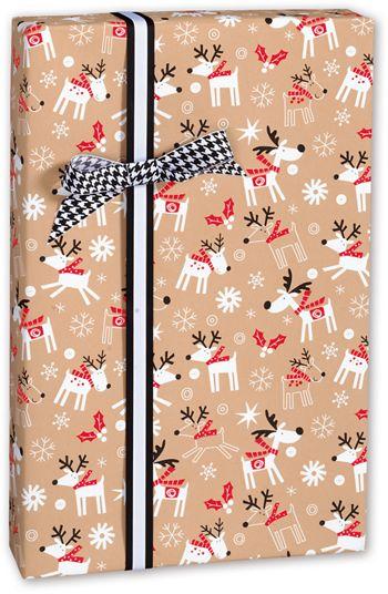 Reindeer Hop Kraft Gift Wrap, 30
