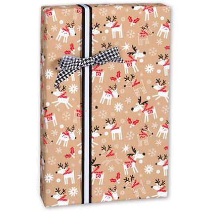 "Reindeer Hop Kraft Gift Wrap, 30"" x 417'"
