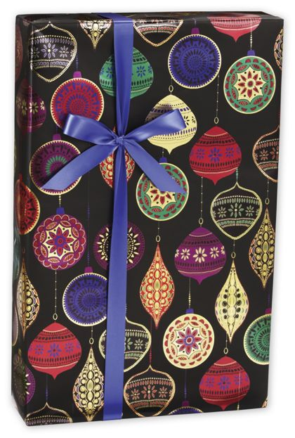 "Opulent Ornament Gift Wrap, 30"" x 417'"