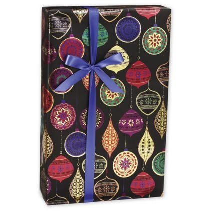 "Opulent Ornament Gift Wrap, 30"" x 417'"