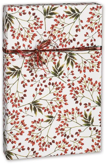 Snow Berries Gift Wrap, 30