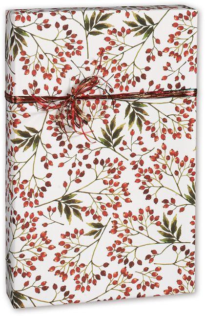"Snow Berries Gift Wrap, 30"" x 208'"