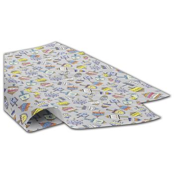 Dreidel Party Tissue Paper, 20 x 30""