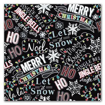 Christmas Chalk Gift Wrap, 5' x 30