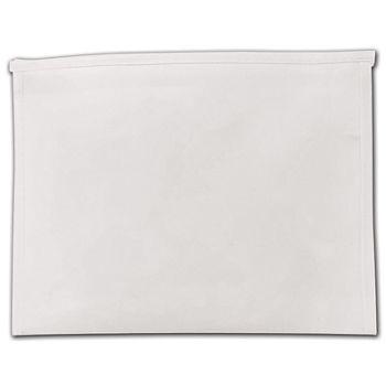 "White Laminated Non-Woven Zipper Pouches, 10 1/2 x 2 x 8"""