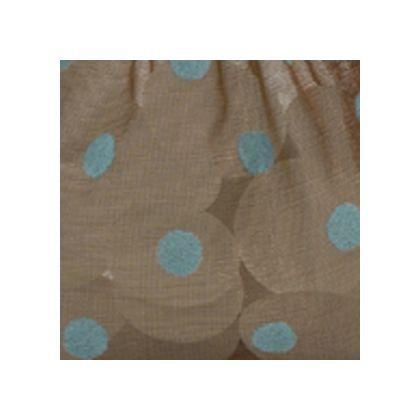 Blue Dots on Brown color swatch