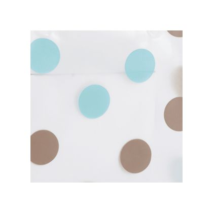 Brown & Blue Dots Frosted