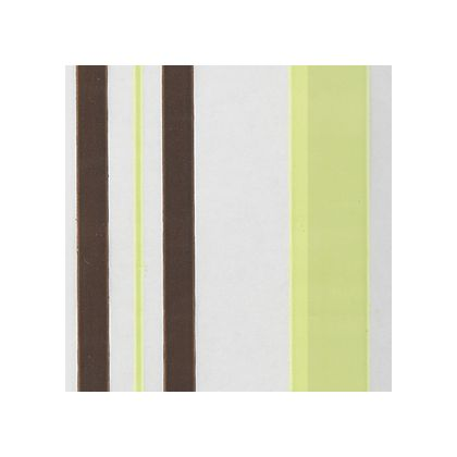 Chocolate and Green Sweet Stripes color swatch