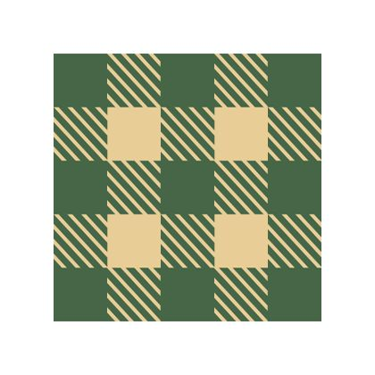Green Gingham color swatch