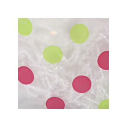 Pink & Green Dots Frosted color swatch