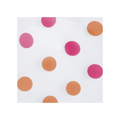 Pink & Orange Dots Frosted