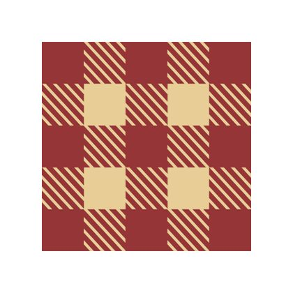 Red Gingham color swatch