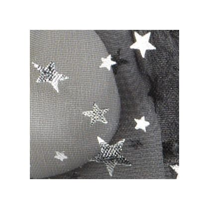Silver Stars on Black color swatch