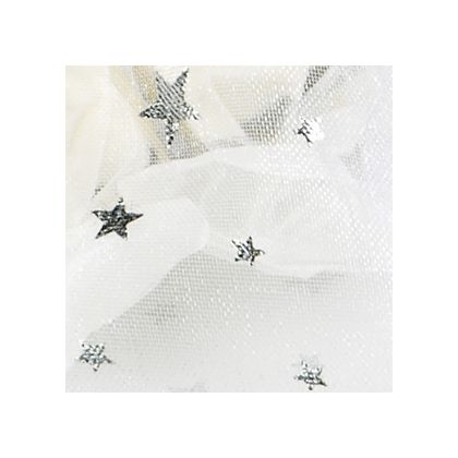 Silver Stars on White color swatch
