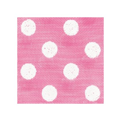 White Dots on Hot Pink color swatch