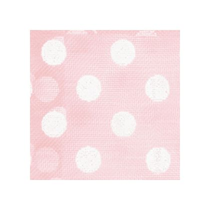 White Dots on Light Pink color swatch