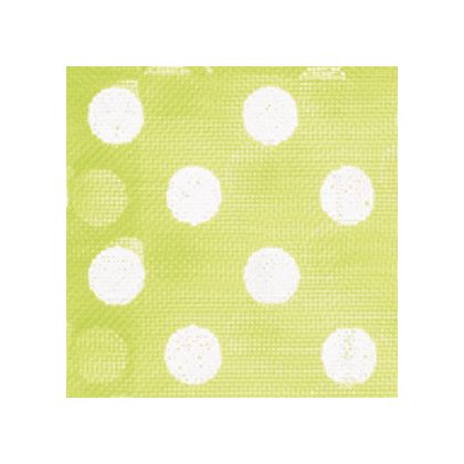 White Dots on Lime Green color swatch